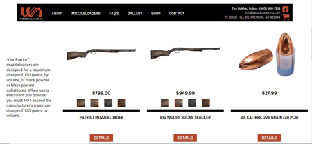 Picture for category Muzzleloaders - Woodman Arms - Call Tim Bolduc 603-608-7218 for more details